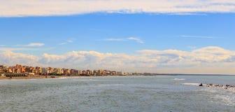 Coast, Ostia, Rome, Italy. Narrow coastline royalty free stock image