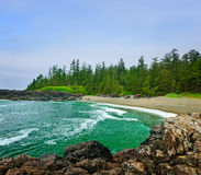 Coast of Pacific ocean in Canada Stock Images