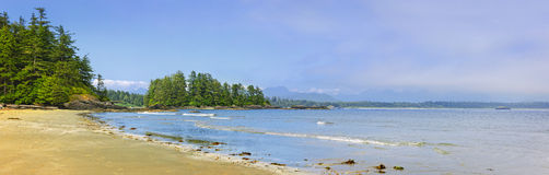 Coast of Pacific ocean, Vancouver Island, Canada Royalty Free Stock Photography