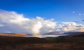 Coast panorama. Panorama of the coast of Isle of Mull, Scotland stock photography