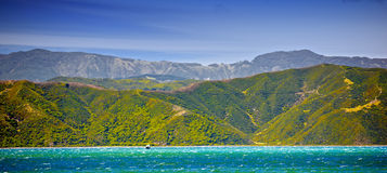 Coast panorama - Wellington, New Zealand Royalty Free Stock Images