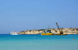 Coast in Paphos Stock Image