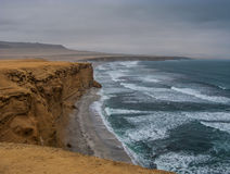 The coast of Paracas National Reserve Royalty Free Stock Photo