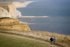 Coast path Stock Images