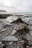 On the coast path Cornwall england uk Stock Photo