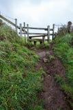 On the coast path Cornwall england uk Royalty Free Stock Photos