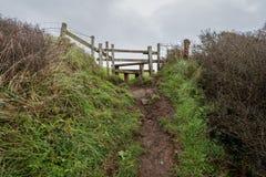 On the coast path Cornwall england uk Royalty Free Stock Photo