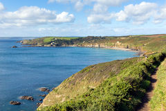 Coast path Kenneggy Sand Cornwall England near Praa Sands and Penzance Royalty Free Stock Photography