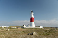 Coast path and lighthouse, Portland Bill Royalty Free Stock Image