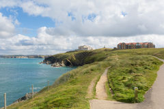 Coast path Newquay Cornwall England UK Royalty Free Stock Photo