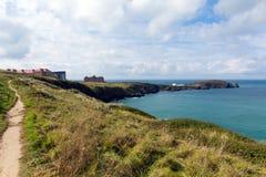 Coast path Newquay Cornwall England UK Stock Photo