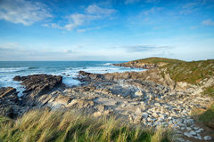 The Coast path at Newquay in Cornwall Royalty Free Stock Photography