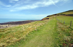 Coast path in North Devon Stock Image