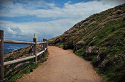 Coast path. A peaceful coast path in the northwest of Galicia, Spain Royalty Free Stock Photos