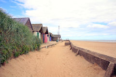 Coast Path, Sandilands, Lincolnshire. Stock Image