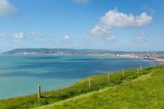 Coast path Shanklin bay Isle of Wight Royalty Free Stock Photos