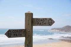 Coast path sign Royalty Free Stock Images