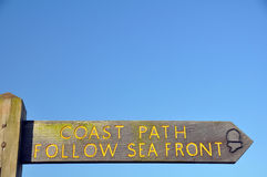 Coast Path sign Royalty Free Stock Photo