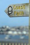 Coast path sign Stock Image