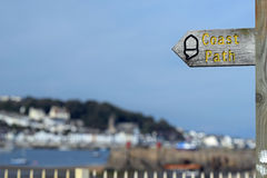 Coast path sign Stock Images