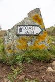 Coast path sign stock photos