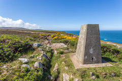 Coast path between zennor and st ives in cornwall england uk. In penwith Royalty Free Stock Photos