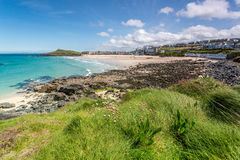 Coast path between zennor and st ives in cornwall england uk Stock Photography