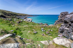 Coast path between zennor and st ives in cornwall england uk. In penwith Royalty Free Stock Images