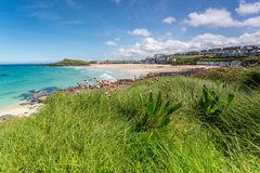Coast path between zennor and st ives in cornwall england uk Royalty Free Stock Image
