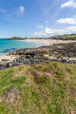 Coast path between zennor and st ives in cornwall england uk Royalty Free Stock Photo