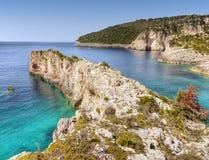 Coast - Paxos Island, Travel Greece Royalty Free Stock Photography