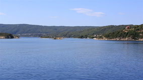 Coast of the peninsula Sithonia. stock footage