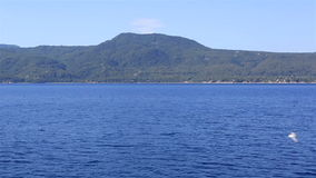 Coast of the peninsula Sithonia. stock video footage