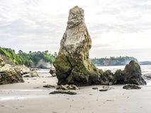 Coast at playa de sua in atacamas,. Rough coast at playa de sua in atacamas, equador Stock Image