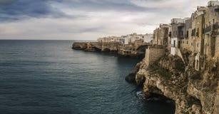 Coast polignano a mare caves Royalty Free Stock Photography