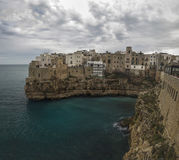 Coast polignano a mare panorama lama molechine stock images