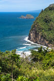 The coast of Pololu Valley, Big Island Stock Images