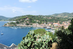The coast at Porto Azzurro on Elba Island,Tuscany Stock Photo