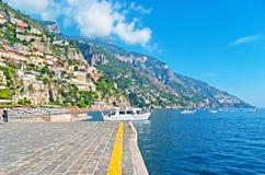 The coast of Positano Royalty Free Stock Photo