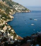 The coast between Positano and Praiano Stock Image
