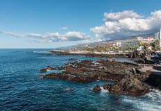 Coast of Puerto de la Cruz Stock Images