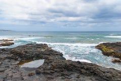Coast of Punta del Hidalgo. Tenerife. Spain Royalty Free Stock Image