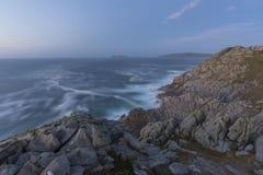 Coast in Punta Nariga Malpica, La coruna - Spain. Coast in Punta Nariga lighthouse Malpica, La Coruna - Spain Stock Photo