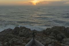 Coast in Punta Nariga Malpica, La coruna - Spain. Coast viewed from Punta Nariga lighthouse Malpica, La Coruna - Spain Royalty Free Stock Image
