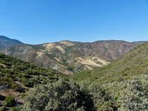 Coast Range Mountains of Northern California. The lee side of the Coast Range Mountains in Northern California stock photo