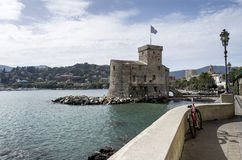 Coast of Rapallo,Italy Stock Photo