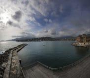 Coast of Rapallo Royalty Free Stock Photos