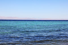 The coast of the Red Sea in Dahab, Egypt. Stock Images