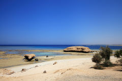Coast of the red sea Royalty Free Stock Photos