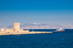 Coast of Rhodes Greece Royalty Free Stock Photos